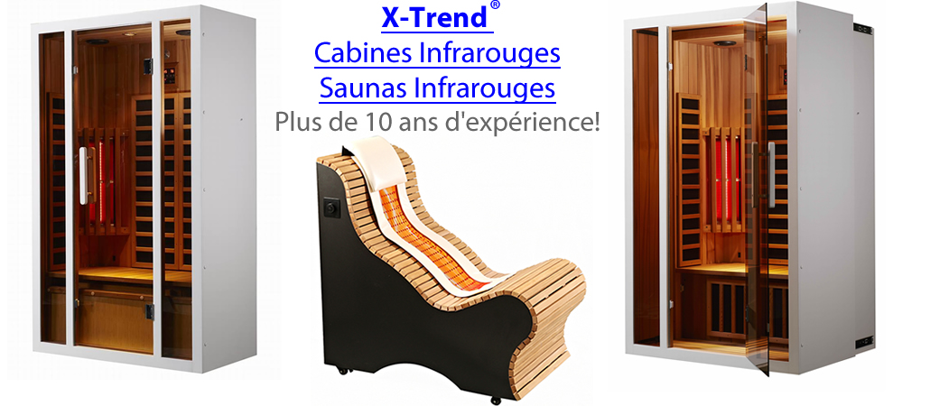Cabine infrarouge sauna infrarouge prix x-trend